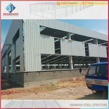low cost galvanized steel structure prefabricated barn warehouse building