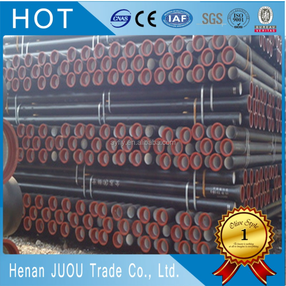 100mm 150mm ce ductile iron pipes rates class a53/ductile iron pipe k9