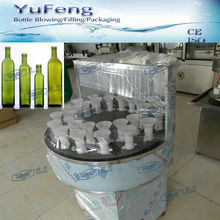 Semi-automatic new glass bottle rinser with water
