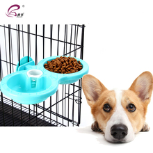 New arrival pet hanging cage double dog feeding bowl