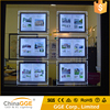 Real Estate Agents Window Display Slim Hanging Acrylic Edge Lit Poster Picture Frame