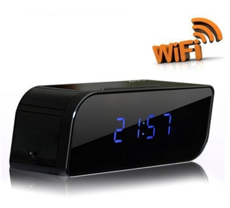 Wifi 1080P Hidden Spy Cam IP Camera Alarm Clock Mini Camcorders HD Camera