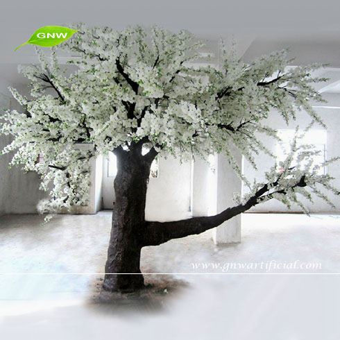 BLS064 GNW Big Fiber glass Trunk Artificial Cherry Blossom Tree Wedding Mandap Decoration White Color