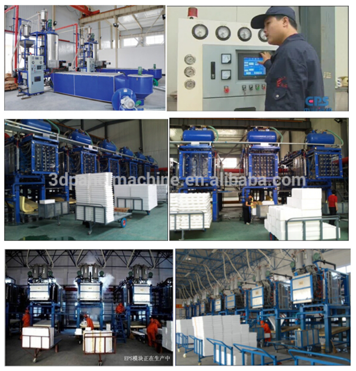 New Continuous Bv certificated professional polystyrene christmas tree styrofoam icf production line