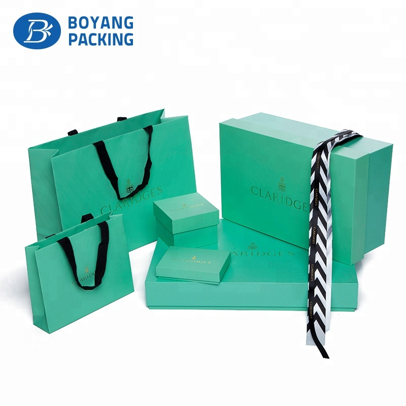China cardboard printing rectangular jacket garment packaging box