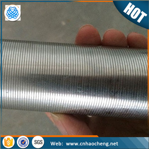 Stainless steel johnson wedge wire screen filter tube/ deep well filter screen pipe