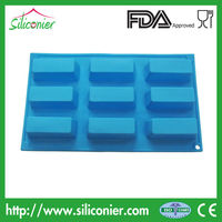 Rectangle silicone baking molds colorful and food safe