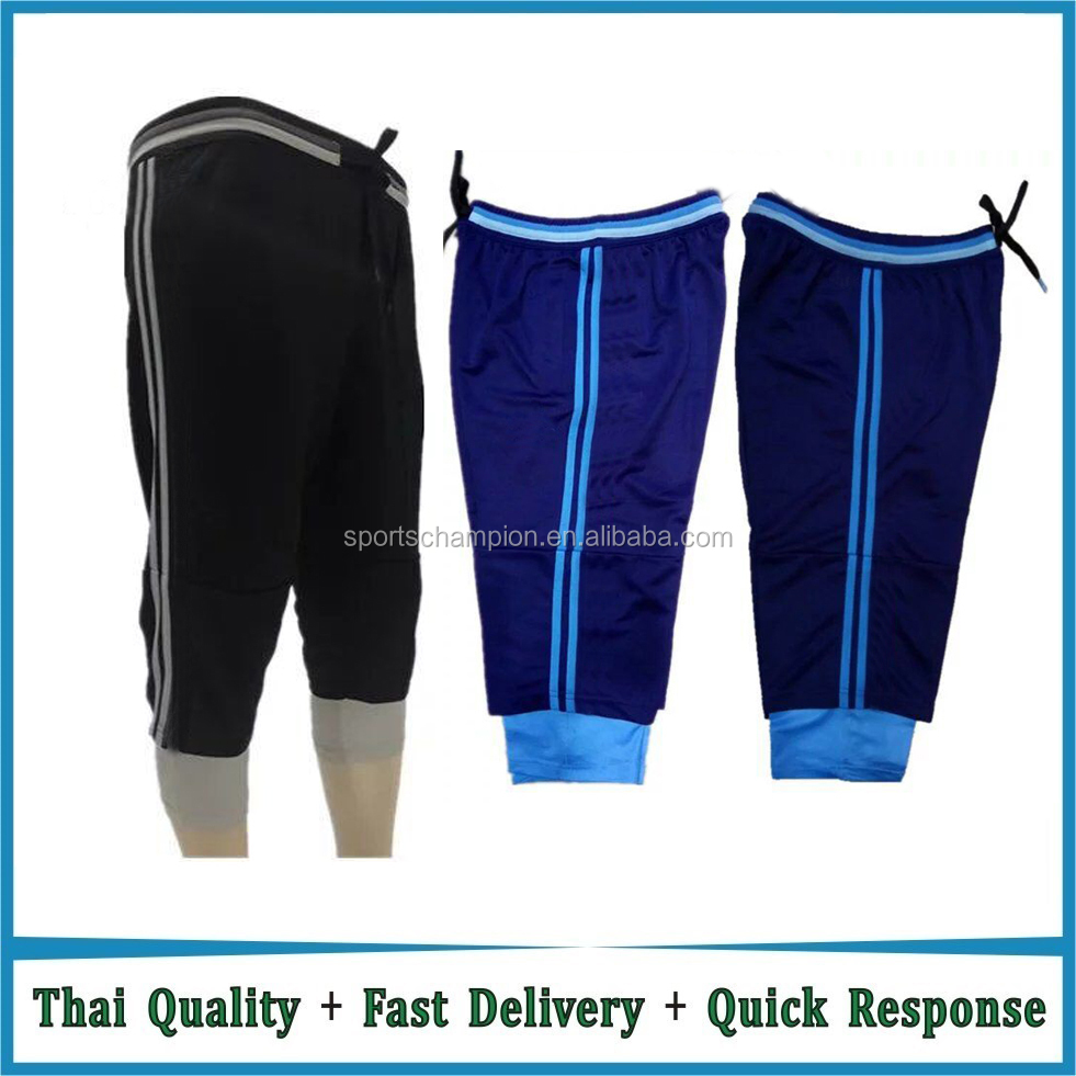 High quality cheap plain soccer pant, soccer training pants, football capri pants
