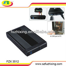 FZX3512 High quality 3.5 inch usb3.0 SATA Aluminum external hard disk case/ hdd enclosure
