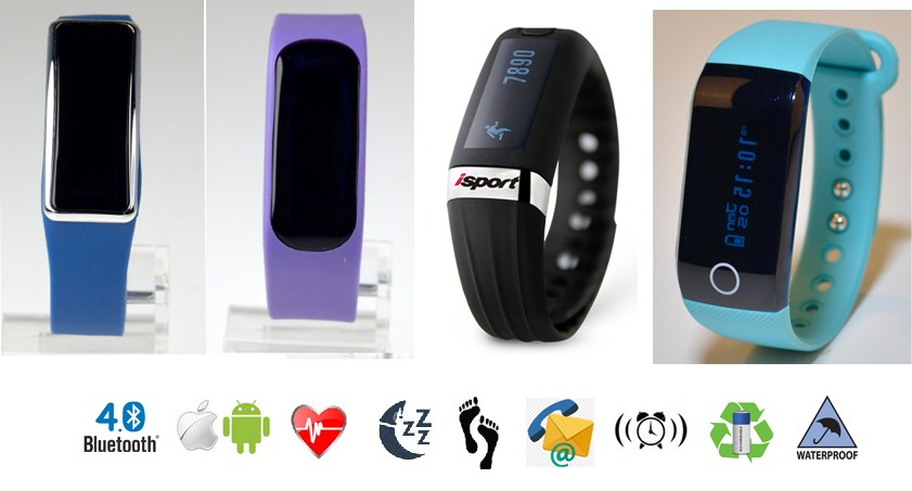 IP67 Waterproof Heart rate bluetooth tracker fitness activity tracker for IOS & Android