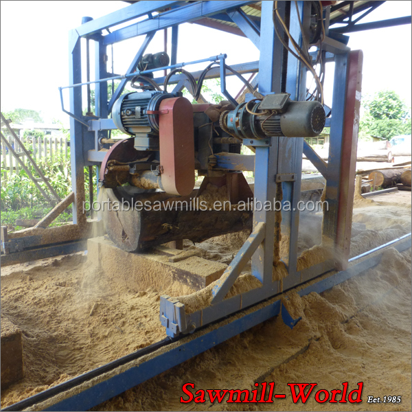 Wood Circular saw mill of Angle Circular Saw with Double Blades Saw Mill Machine for big size timber cutting