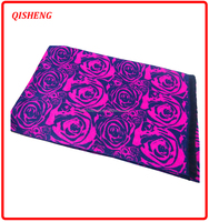 2015 fashionable rose pattern brand scarf factory