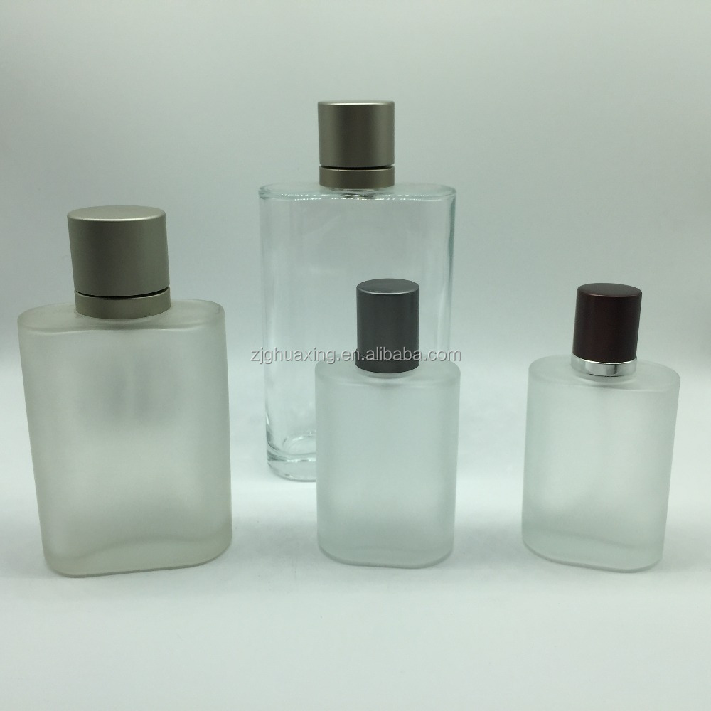 200ml selling old design style square shaped tall rectangle brand name glass perfume bottle for sale aluminum cap