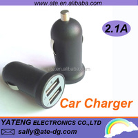 2014 hot selling 10.5W Dual usb mobile phone mini car charger