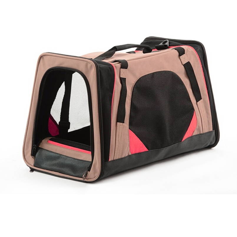 Portable outdoor polyester dog puppy carrier house pet travel bag, soft net mesh shoulder animal cat carry room bowl shop bag