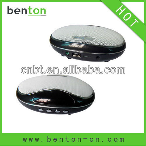 2012 hot sell mouse shape LED screen mini tf card speaker of high quality