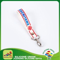 Environmental silicone keyring new arrival cheap keychain