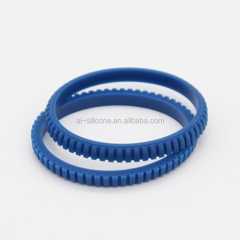 Flat gasket shape molded rubber grommet silicone grommet