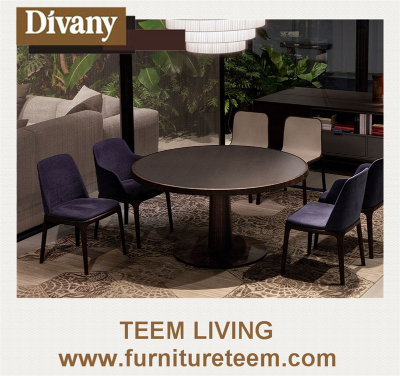 Divany modern style new design pull out dining room tables dining table octagonal dining room table