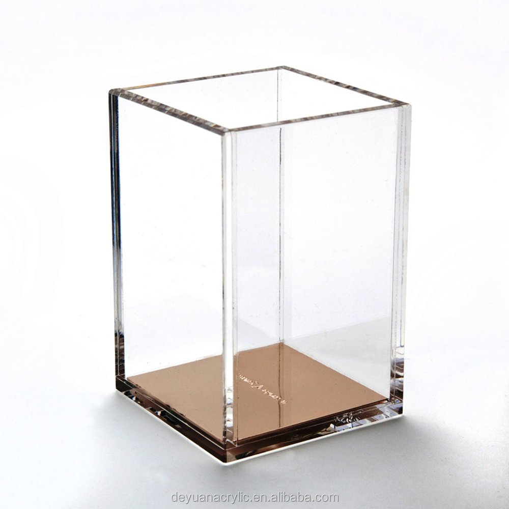 Hot sale acrylic pencil glass cup box