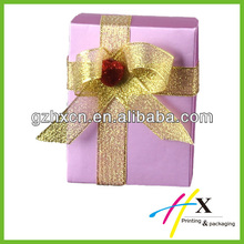 Purple paper chocolate gift box with dividers