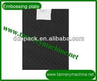Embossing plate for raw leather hides to make sofa car leather