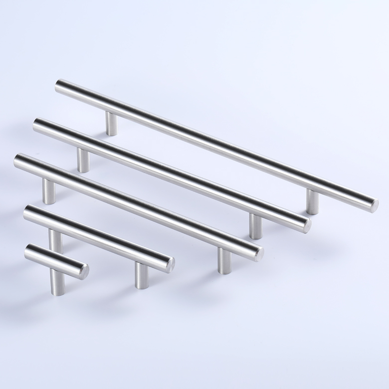 Hollow type stainless steel kitchen T- bar cabinet door handle with good quality 01.001