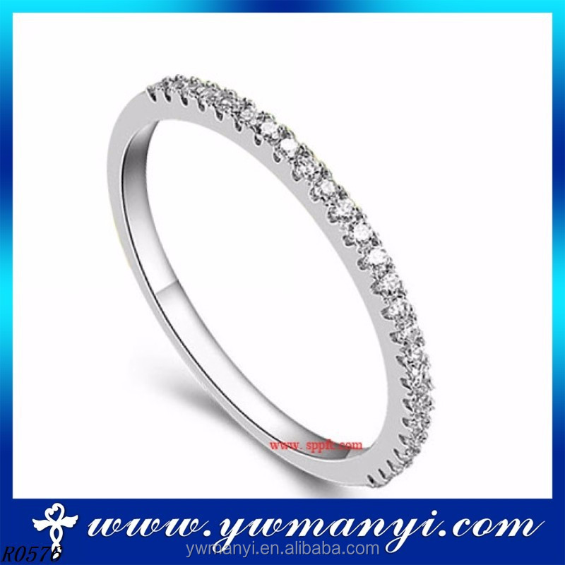 2016 gold plated big wholesale new arrival jewelry fashion simple design bridal ring jewelry R0576