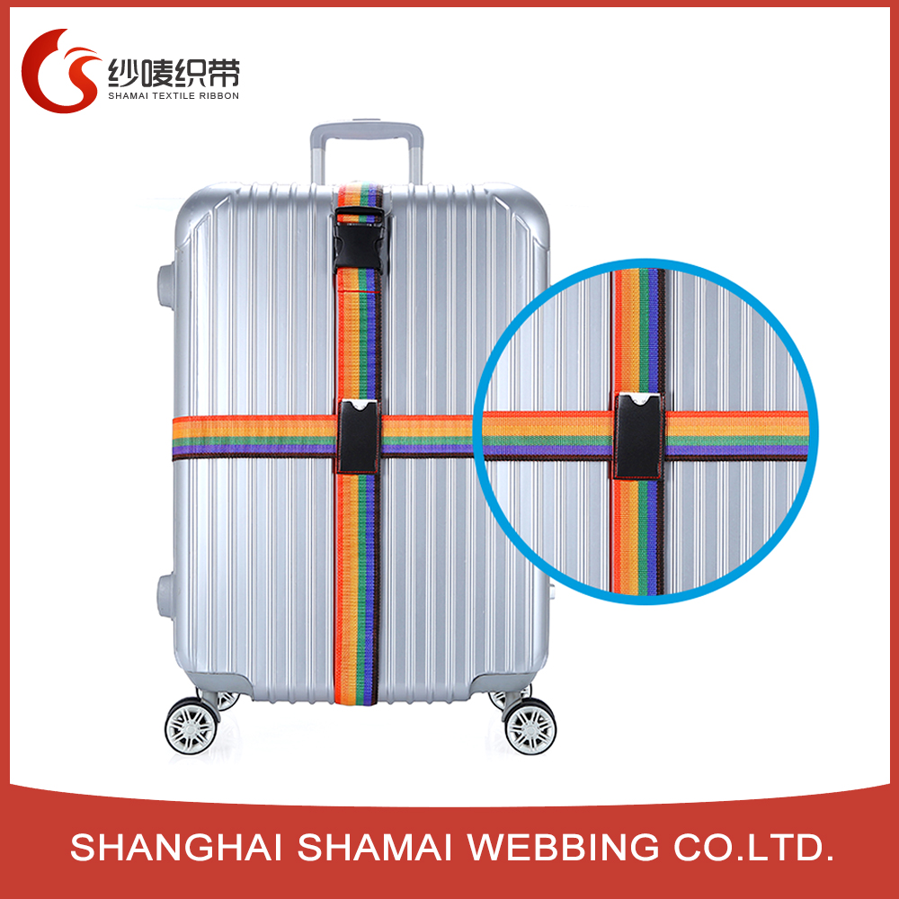 Retractable plastic buckle safety elastic luggage belt for travel bag