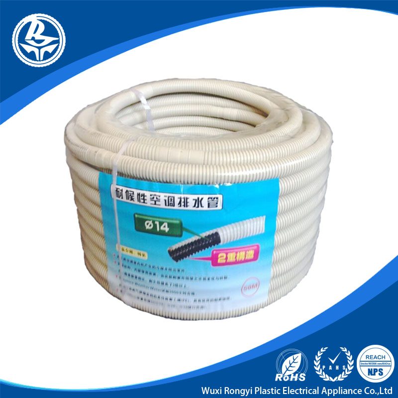 14mm grey drain air condition corrugated hose