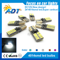 2017 Hot selling Super bright Canbus Error Free T10 4014 24SMD w5w t10 led car light