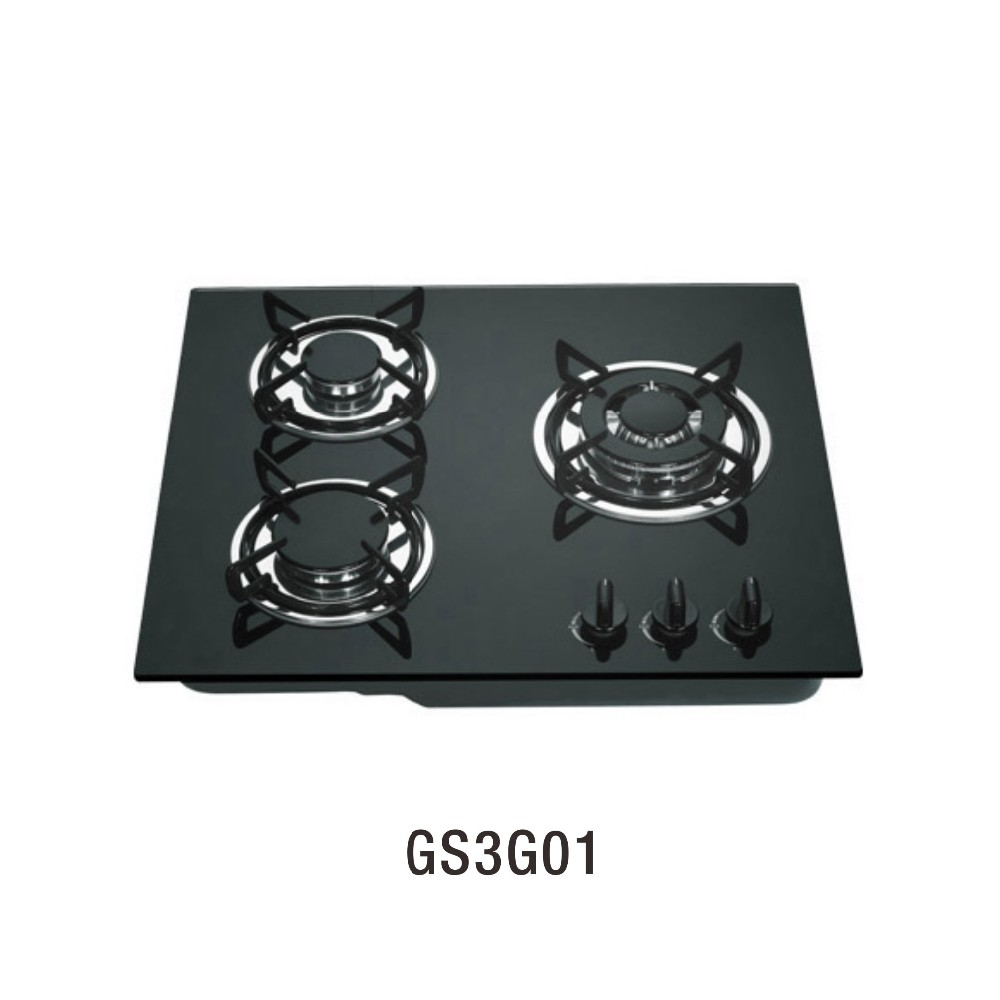 GS3G01 kitchen appliance built in glass cooktops gas stove 3 burner