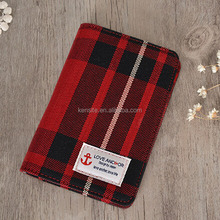 2017 hot selling unique fashion fabric passport case