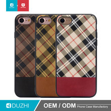 DUZHI Hot sale factory wholesale price 360 protective paste PU leather mobile phone cover grid hybrid phone case shell