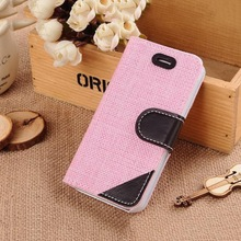 Top quality new products top pu leather flip cases for iphone5