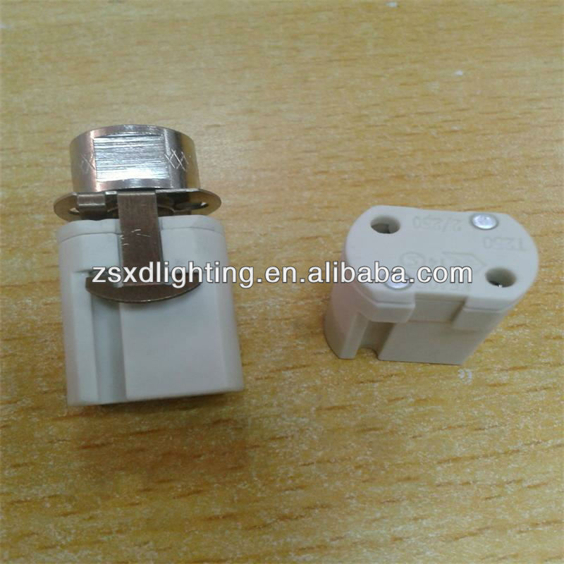 16) ceramic G9 LED lamp socket with Steel sheet and Zine nut