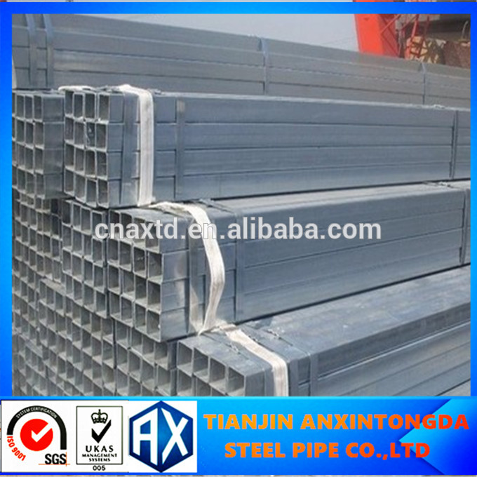 carbon steel galvanized square tube tianjin tube8 japanese/square tube dog cage/galvanized square tube