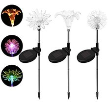 Solar Outdoor Decorative Garden Lights Dandelion Lily Sunflower Led RGB Solar Stake Light For Yard Path Way Landscape Decor