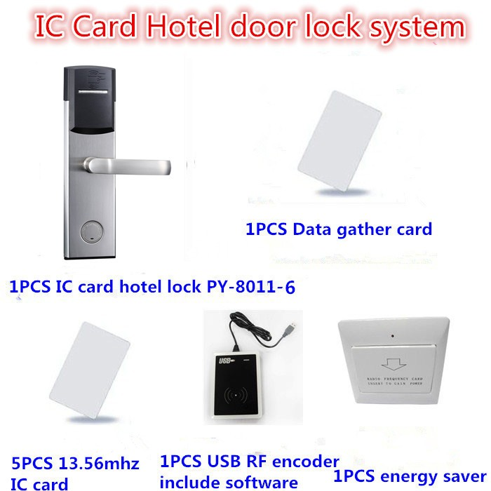 China supplier intelligent rfid card electronic stainless steel door lock PY-8181-J
