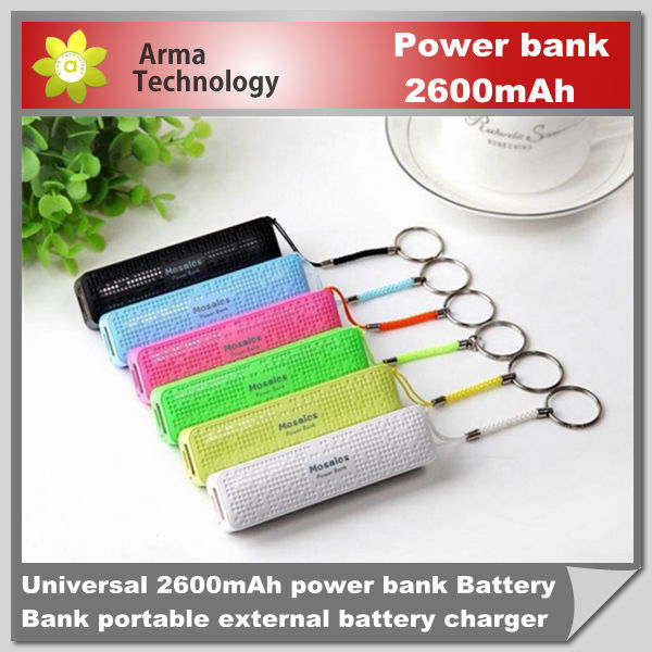 Factory 2600MAH power bank portable external battery pack charger power pack for samsung phone