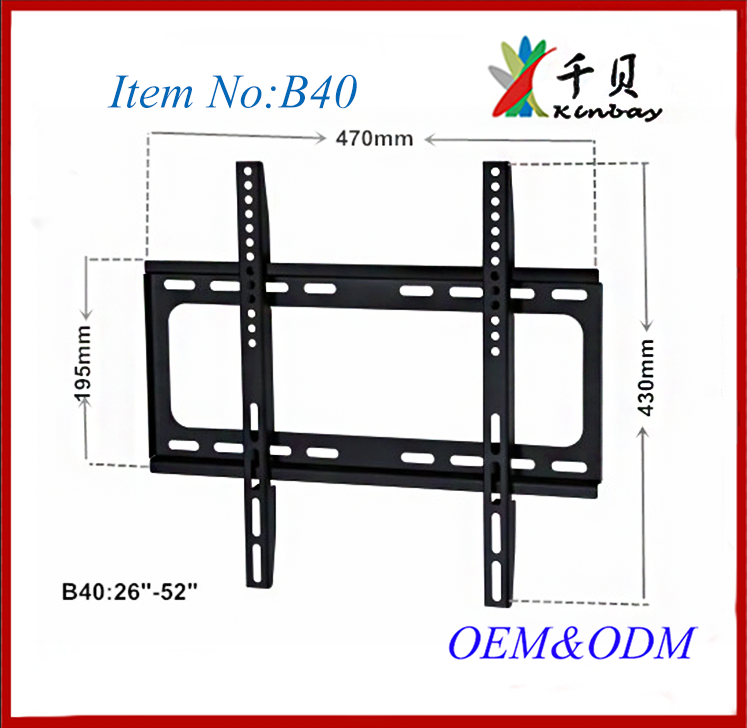 adjustable video 55 inch lcd advertising tv wall mounting