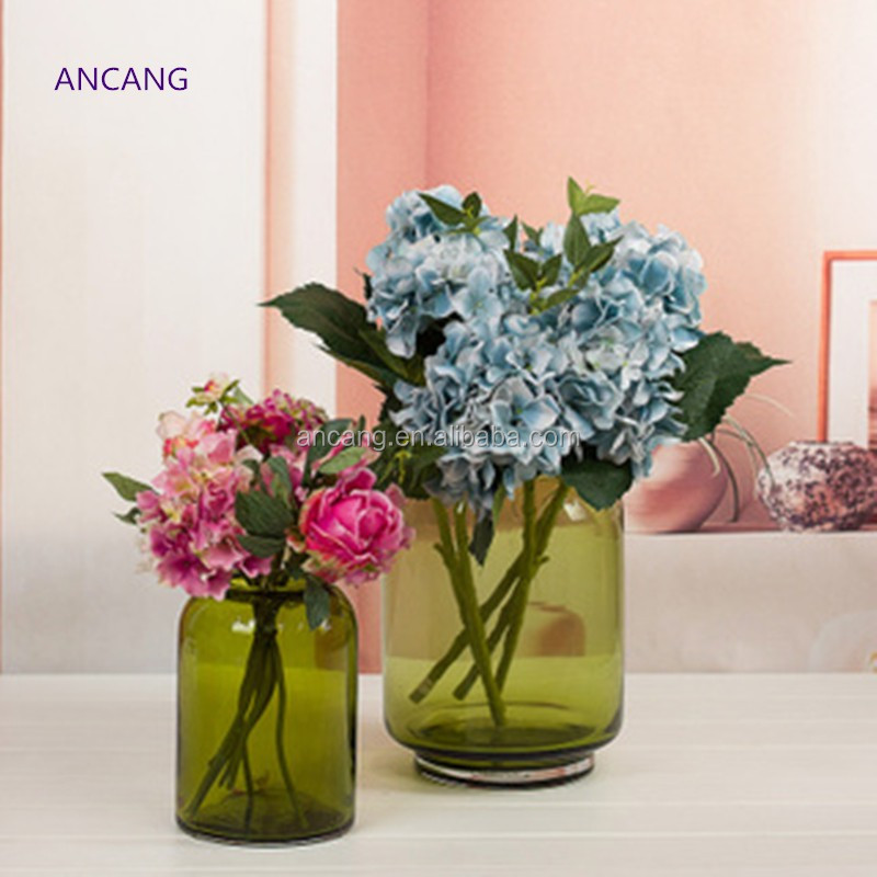 Professional Clear Glass material Flower Vase