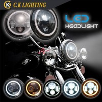 12v 24v round Harley led headlight for motorcycle