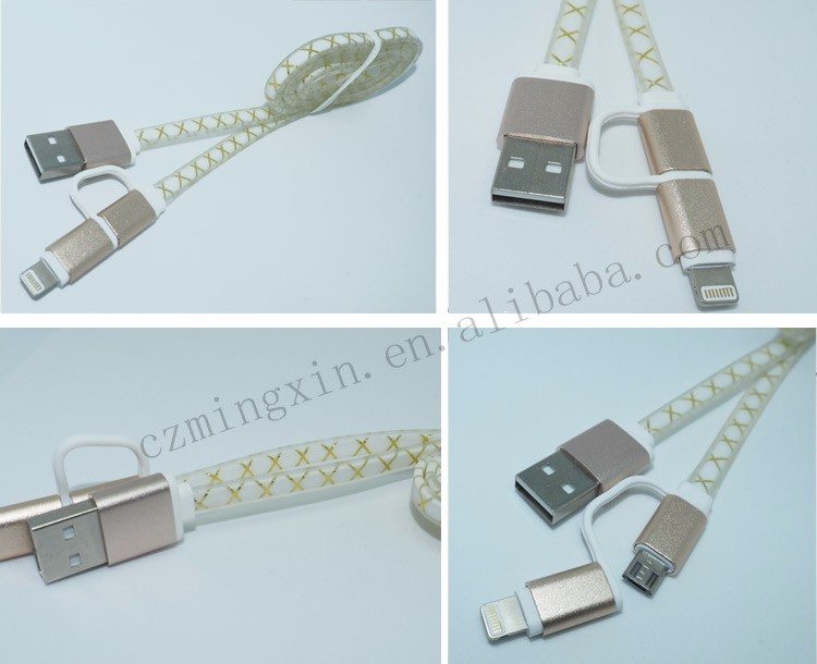 New Colors Nylon Braided Aluminum Alloy Micro USB Cable