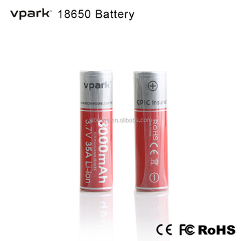 18650 battery high quality Li-ion battery rechargeable 3.6v 3000mAh Vpark Brand