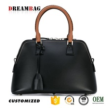 Popular contrast color factory oem new style leather bags in dubai