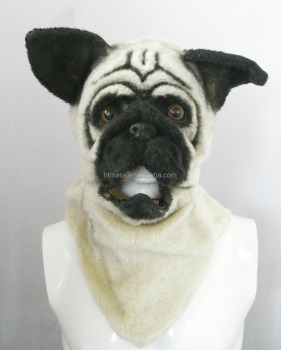 Animal Furry Head Mask - Mister Pug (top 2)