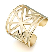 Hollow Wedding Copper Ring Jewelry For Women Gold 1-2484-2640
