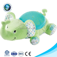 Educational baby toy cute green elephant plush light up toy promotional stuffed soft plush toy night light