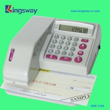 Plastic and electronic cheque writer KSW310